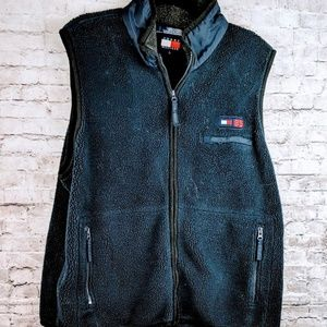 Tommy Hilfiger Navy Fluffy Vest XL